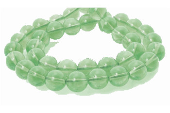 4mm Round Light Green dyed Quartz Beads 15 Inch Loose Strand approx 100 beads