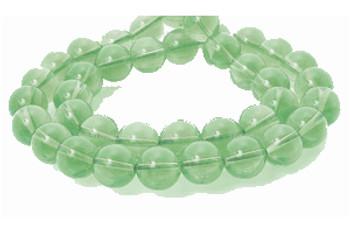 8mm Round Light Green dyed Quartz Beads 15 Inch Loose Strand
