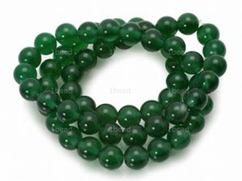 4mm Green Dyed Jade Round Beads 100 Beads
