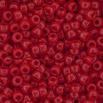 Czech Glass Matubo, 7/0 Seed Beads, 7.5 Gram Tube, opaque red