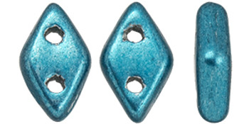 "CzechMates Diamond 6.5 x 4mm Tube 2.5"" : ColorTrends: Saturated Metallic Quetzal Green"