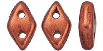 "CzechMates Diamond 6.5 x 4mm Tube 2.5"" : ColorTrends: Saturated Metallic Valiant Poppy"