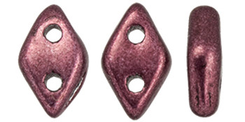 """CzechMates Diamond 6.5 x 4mm Tube 2.5"""" : ColorTrends: Saturated Metallic Red Pear"""