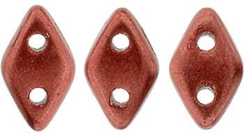 "CzechMates Diamond 6.5 x 4mm Tube 2.5"" : ColorTrends: Saturated Metallic Cherry Tomato"