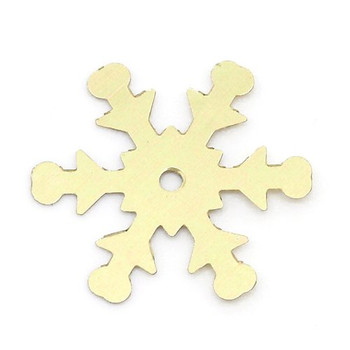 2500 Gold Snowflake Sequins for Sewing Card Making Scrapbooking Crafts 19mm