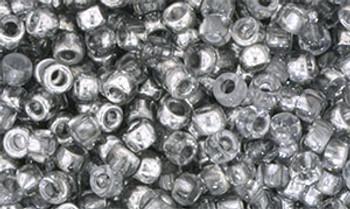 Matubo Seed Bead 7/0 50 Grams Silver 1/2 Coat