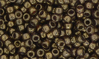 Matubo Seed Bead 7/0 50 Grams Luster Transparent Gold/Smokey Topaz