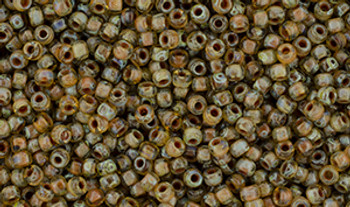 Matubo Seed Bead 11/0 Tube 2.5S  Crystal Picasso