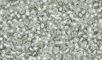 Matubo Seed Bead 11/0 Tube 2.5S  Crystal Silver-Lined