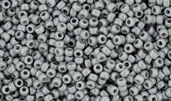 Matubo Seed Bead 11/0 Tube 2.5S  Luster Opaque Gray
