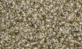 Matubo Seed Bead 11/0 Tube 2.5S  Crystal Gold-Lined