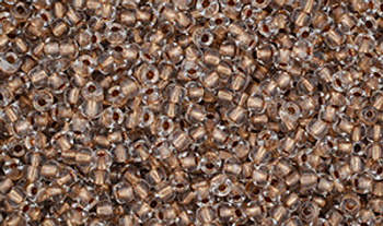 Matubo Seed Bead 11/0 Tube 2.5S  Crystal Copper-Lined