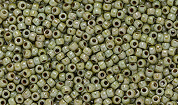Matubo Seed Bead 11/0 Tube 2.5S  Ultra Luster Opaque Green