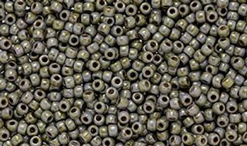 Matubo Seed Bead 11/0 Tube 2.5S  Luster Marble Lt. Green