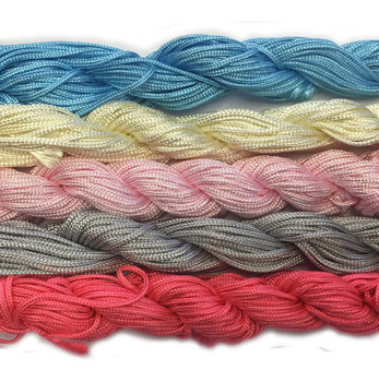 Chinese Knotting Beading Cord Mixed Approx 1.5mm 5 (12 Yard Skeins) For Crafts And Knotted Jewelry Like Shamballa Bracelets 6 Z-G-131128170537-Mix5