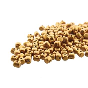 Bronze Gold Matte Minos Par Puca 2 5x3mm Cylinder Czech Glass Beads 5 Gr Hp-Mns253-00030-01740-5G