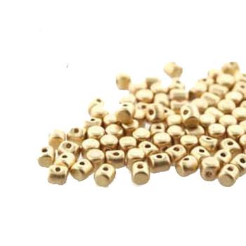 Lt Gold Matte Minos Par Puca 2 5x3mm Cylinder Czech Glass Beads 5 Grams Hp-Mns253-00030-01710-5G
