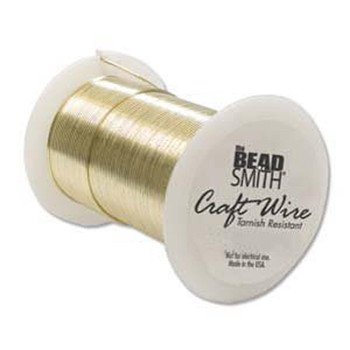 Tarnish Resistant Craft Wire 20 Gauge Gold Color Ntw20G