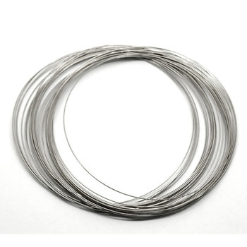Memory Beading Wire, Spring Steel, 4 Inch  0.55-0.60mm Thick. Approximately 150 Loops. THIN