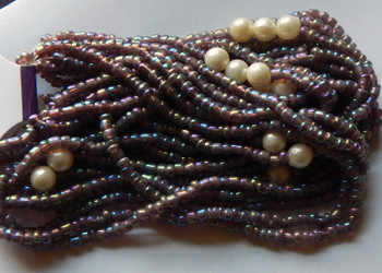 Amethyst Irregular Mixed Seed And Bead From India 90 inches of beads