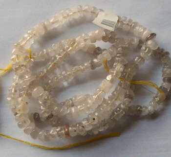4-7mm Handcut Rondelle Natural Citrine Beads 14 in loose strand