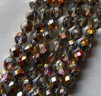 25 FirePolished Faceted Czech Glass Beads 6mm Maria Lights