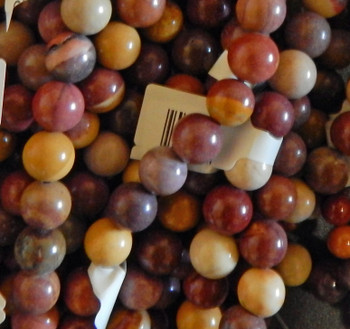 """8mm Round Mokaite Japer Beads b grade 15.5"""""""