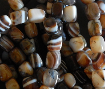 approx 16mm x12mm sizes very Striped Agate nugget Beads 15 inch APPROX 20 BEADS