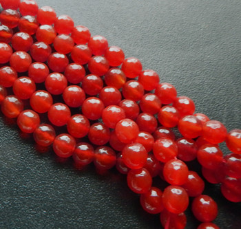 "8mm Carnelian Faceted Round Gemstone Beads 15"" Loose Strand"