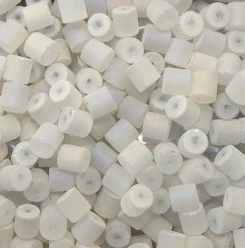 White Ab Druzy Loose Glass Beads 12x8mm Drum Heishi 24 Gram Pack