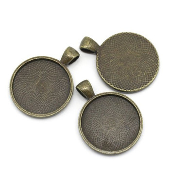 10 Antiqued Brass Plated Cabochon Setting Bezel Cup 28mm Outside 25mm Inside Cup Sold Per 10 Rb25672