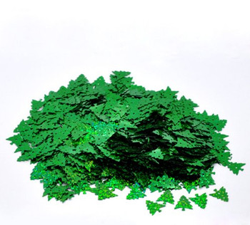 1000 Christmas Tree Green Ab Sequins For Sewing Card Making Scrapbooking Crafts 16mm Rb09888