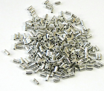 300 Antique Silver Plated Zinc Tube Spacer Beads 2x5mm (0.4mm Hole)