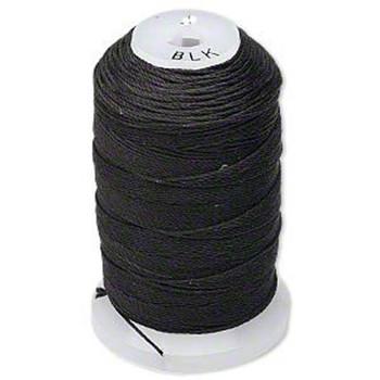 Silk Beading Thread Cord Size E Black 0.0128 Inch 0.325mm Spool 200 Yd 5215Bs