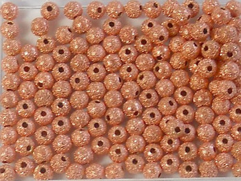 Copper Plated Brass Stardust Beads 4mm Pc Of 140 Metal Spacer Sd04Cp