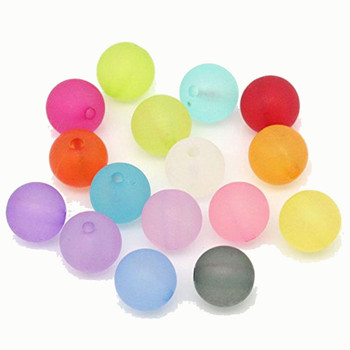 Mixed Frosed Acrylic Round Spacer Beads 10mm 190 Pack (1.5mm Hole) Rb25747-x1