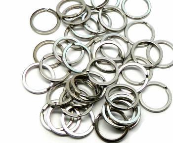 40 Nickel Plated Flat Sided 1 Inch Split Key Ring Steel Alloy Rb03294-40