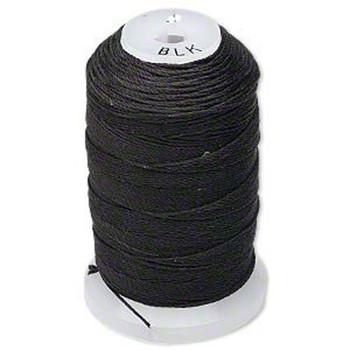 Silk Beading Thread Size C Black 0.0108 Inch 0.27mm Spool 310 Yd 5226Bs