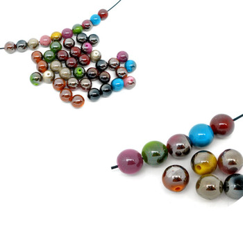 Mixed Acrylic Round Luster Spacer Beads 10mm, 180 Pack (1.5mm Hole) Rb06134-x1