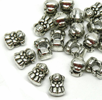 20 Little Girl Charm Beads 13x7mm With 4.5mm Hole Rb01283