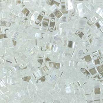 Crystal Luster Half Tila Beads 7.2 Gram Miuki Square 5mm 2 Hole Tlh160-Tb