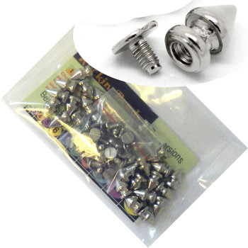 28 Sets Steal Tone Cone Screw On Spike Rivet Studs 11x7mm Spike Punk Gothic Or Leather Work Rb18979-28