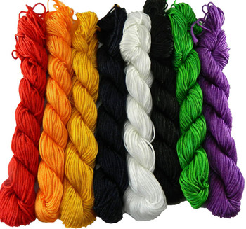 Chinese Knotting Beading Cord Mixed Approx 1mm 8 (25 Yard Skeins) For Crafts And Knotted Jewelry Like Shamballa Bracelets Z-G-130406104407-Mix1