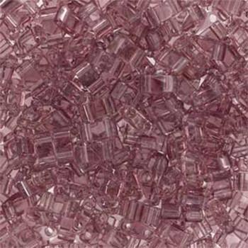 Smokey Amethyst Half Tila Beads 7.2 Gram Miuki Square 5mm 2 Hole Tlh142-Tb