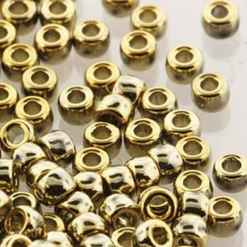 Matubo Czech Glass Seed Beads 6/0 (4.1mm) 50 Grams 1.6mm Hole (Crystal Full Amber) Mtb06-00030-26440