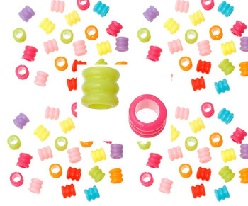 Mixed Acrylic Tube Beads 7mm 1000 Pack (4.2mm Hole) Rb46443