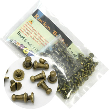 48 Sets Antiqued Brass Plated Cone Screw On Spike Rivet Studs 9x6mm Punk Gothic Or Leather Work Rb20084-48
