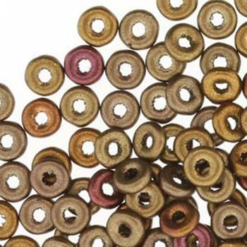 Metallic Mix O-Beads 3.8x1mm Czech Glass Mini Flat Ring 8 Gram Ob2401610-Tb