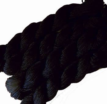 Chinese Knotting Beading Cord Black Approx 1mm 8 (25 yard Skeins) for Crafts and Knotted Jewelry Like Shamballa Bracelets