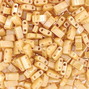 Carmel Pearl Ceylon Half Tila Beads 7.2 Gram Miuki Square 5mm 2 Hole Tlh593-Tb